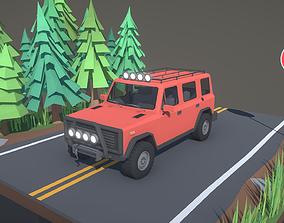 Stylized Offroad Car 3 3D model