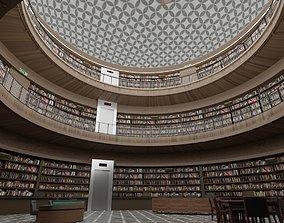 Public Library Interior 3D model