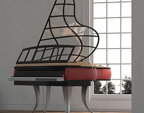 Luxurious Class High Quality Piano 3D model