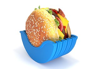Burger in container 3D model