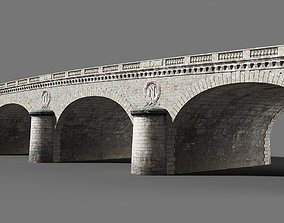 Seine bridge 3D asset