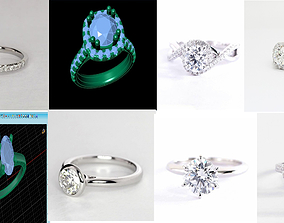 The Latest and New Diomand Ring 3D Model gem