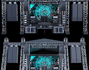 performance 3D model Mini Concert Stage