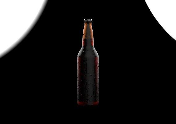 Beer Bottle With WaterDrops