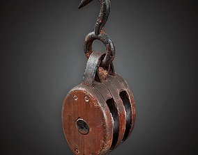Pulley - MVL - PBR Game Ready 3D asset