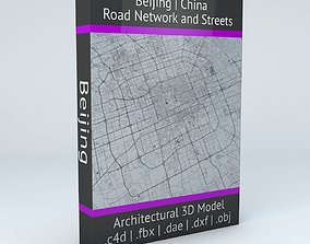 3D model Beijing Road Network and Streets