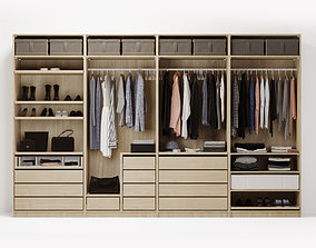 wardrobe clothes section 3D