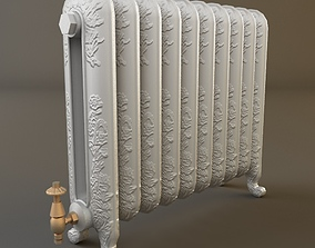 3D model Ornate Antique Radiator