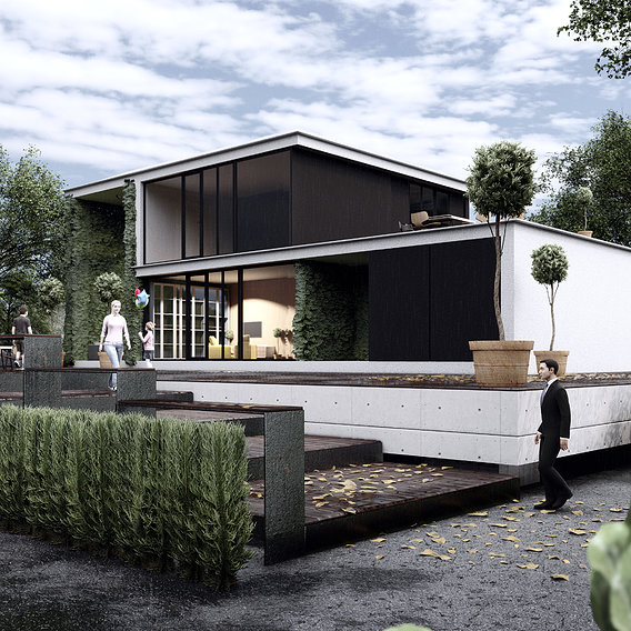 Visualization of architecture (modular house).