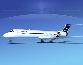 Boeing 717-200 Texair 2 3D model