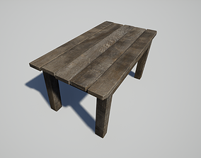 3D asset game-ready Old Table