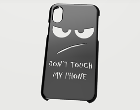 CARCASA IPHONE X-XS DONT TOUCH 3D model