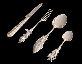 3D set knife a spoon fork