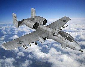 3D model aircraft A10 Fighter