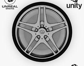 Wheel Steel-Chrome Alloy Rim Lexus 19 3D asset 4