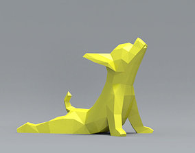 Low Polygon Chihuahua dog model 3D print model