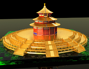 3D model Chinese Palace Temple