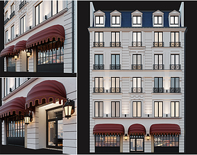 Classic hotel facade 3D model