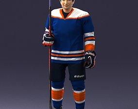 Hockey player 0302 3D Print Ready
