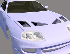 Toyota Supra 1993 Body with the interior 3D print model