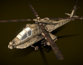 3D model Helicopter Fighting AH64