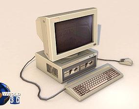 lowpoly desktop computer system 3d model realtime