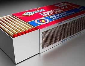 3D asset Match Box