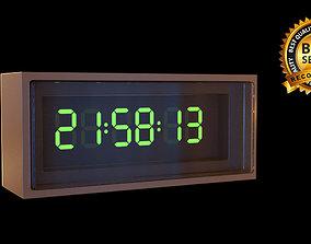 3D Digital watch wallclock