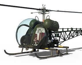 The Bubble Helicopter - Bell 47G - Detailed