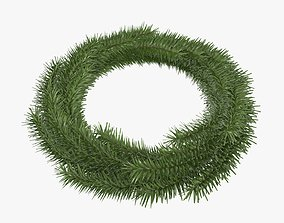Christmas wreath 04 3D model