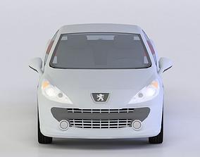 low-poly PEUGEOT 207 CC 3D MODEL