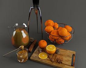 3D model Orange set 1