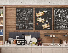 Coffee Shop and Food Take Away 3D model