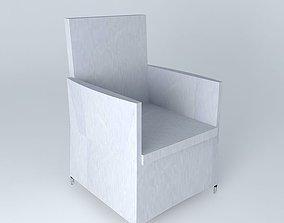 Armchair gray IBIZA houses the world 3D Exterior