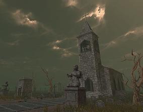 3D asset Medivel Cemetery - Full Pack
