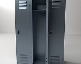 Locker 3D model gym