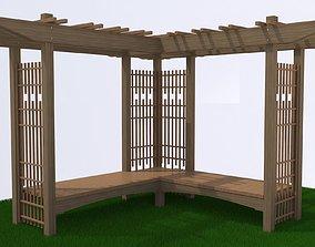3D wood Pergola