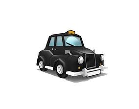 3D asset London black taxi cab