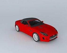 3D asset 2014 Jaguar F-Type V6 Roof up