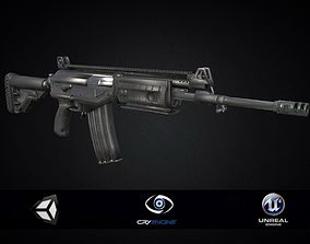 3D model game-ready Assault Rifle IWI ACE 23 Game ready