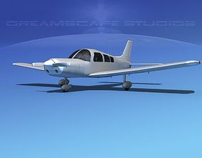 3D model Piper PA-28 Bare Metal