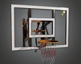 3D asset Gym Basketball Hoop 02a - SAG - PBR Game Ready