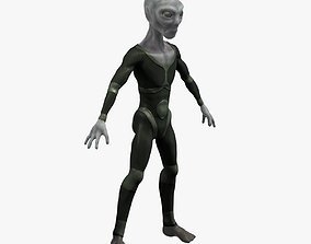 sci-fi Grey Alien 3D