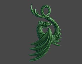 3D print model Dragon pendant sculpting