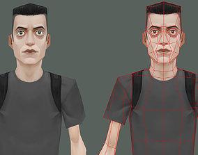 3D model Low poly Eliot