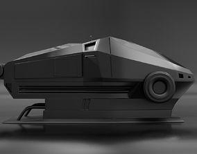 3D Sci-Fi Sleeping Pod