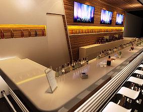 Modern Sports bar Counter 3D model