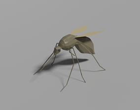 Low-poly Mosquito 3D model