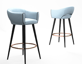 Mambo Unlimited Ideas Grace bar chair 3D model