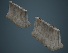 3D model Concrete Barrier 1B
